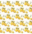 Fresh lemons pattern vector image vector image