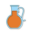 fruit juice jug glass icon image vector image vector image