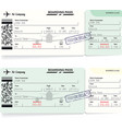 green airline boarding pass tickets for traveling vector image vector image