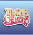 greeting card with quote merry christmas vector image