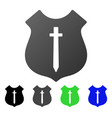guard shield flat gradient icon vector image vector image