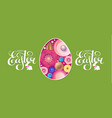 happy easter flyer template with egg flowers and vector image vector image