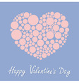 Heart made from many round dots Love card Happy vector image vector image