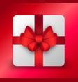 holiday christmas sale and present box vector image