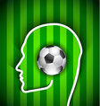 Human head with soccer ball vector image