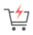 instant shopping halftone dotted icon vector image vector image