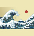 japan great wave vector image