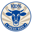 label with head a bull vector image
