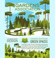 landscape design studio gardening service banner vector image vector image