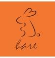Line icon hare logo vector image vector image
