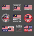 made in malaysia labels set product emblem of vector image vector image