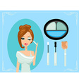 MakeupMake-upEyes hadows Eye shadow brush vector image vector image