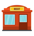 meat shop icon flat style vector image