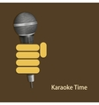 modern karaoke time background vector image
