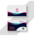 modern vibrant business card template vector image vector image