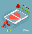 online dating service concept vector image vector image