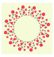 Ornamental wreath vector image vector image