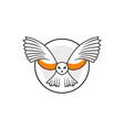 owl outline inspiration logo design vector image vector image
