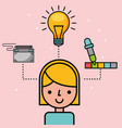 people creative process vector image vector image