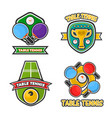 ping pong table tennis club and tournament award vector image vector image