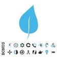 Plant Leaf Flat Icon With Bonus vector image