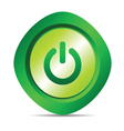 power button in green color vector image vector image