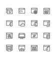 programming coding applications icon set in thin vector image