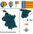 province of valencia spain vector image vector image