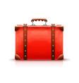 retro suitcase luggage bag vector image