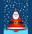 santa claus like pine tree vector image vector image