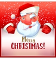 Santa winks and greetings vector image vector image