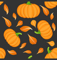 seamless pattern on dark background with orange vector image vector image