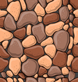 Seamless pattern with decorative stones-2 vector image vector image
