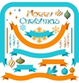 Set of retro ribbons and labels with Christmas vector image