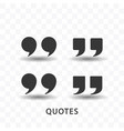 set quotes icon simple flat style vector image