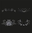 Silver Floral for design vector image vector image