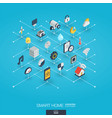 smart home integrated 3d web icons digital vector image vector image