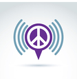 speech bubble with peace symbol from 60th Podcast vector image vector image
