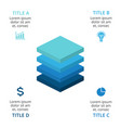 squares layers 3d infographic diagram vector image vector image
