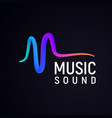 stylized sound wave isolated logo abstract pulse vector image vector image