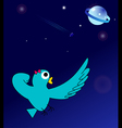 Super Lady-bird in space vector image