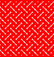tile red and white pattern or website background vector image