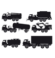types of trucks vector image