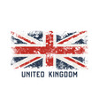 united kingdoml t-shirt and apparel design with vector image vector image