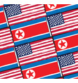 usa and north korea flags or banner vector image