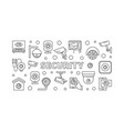 video security concept horizontal line vector image vector image