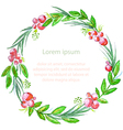 Watercolor floral invitation card vector image vector image