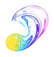 abstract rainbow blot blur background hologram vector image