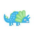 cute funny colorful dinosaur prehistoric animal vector image