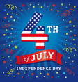 4 july independence day usa flag greeting card vector image vector image